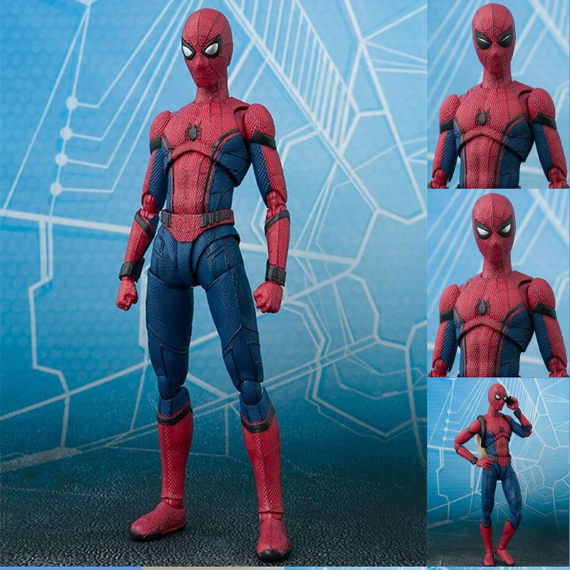 Spider Man Homecoming The Spiderman Simple Style & Herioc Action PVC Action Figure Collectible Model Toy 14cm