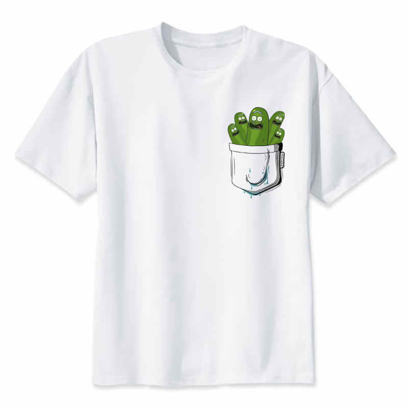 Rick and Morty tshirts Men print T-Shirts Novelty funny clothes tshirts man white tee shirts pickle rick male streetwear