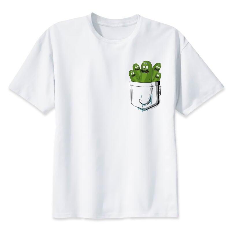 Rick and Morty tshirts Men print   T  -  Shirts   Novelty funny clothes tshirts man white tee   shirts   pickle rick male streetwear