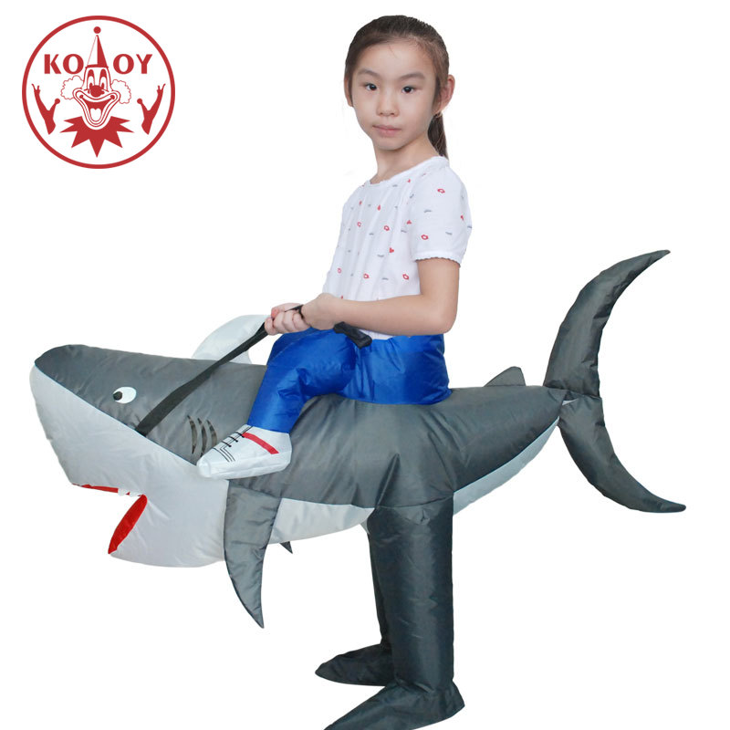 Inflatable Kids Costume Halloween Shark Costumes For Children Boys Girls Party Fancy Dress Birthday Gift Animal Cosplay