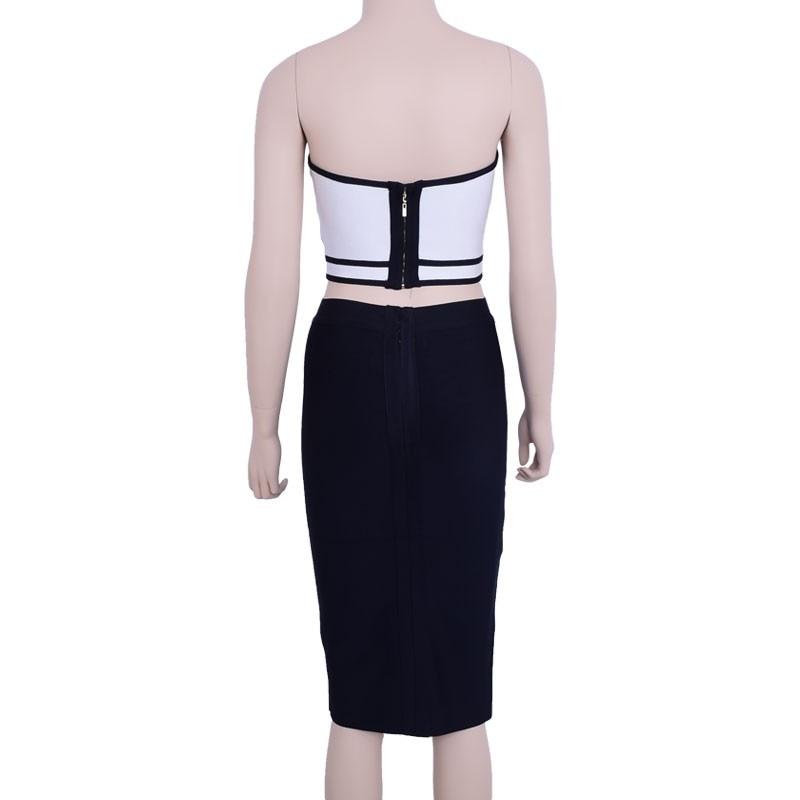 Noir Bretelles Rayures 2 Hl Bandage Sexy Et Blanc Sans Cultures 2016 Ensemble Femmes Robe Pièce qw1ZO0