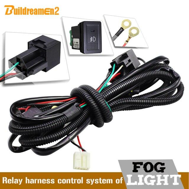 Buildreamen2 H11 Car Fog Light Harness Wiring Kit Cable Switch Relay Fuse For Suzuki Grand Vitara Jimny Ignis Swift Alto Splash