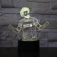 3d Led night light USB Touch Sensor 7 Color Changing table lamp bedside decorative lights Football Player Mohamed Salah Figure все цены