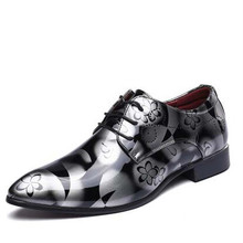2017 England Fashion Men'S Genuine Leather Shoes Male Casual Flats Party Shoes Men Leather Oxfords Shoes Large Size 45,46,47,48.