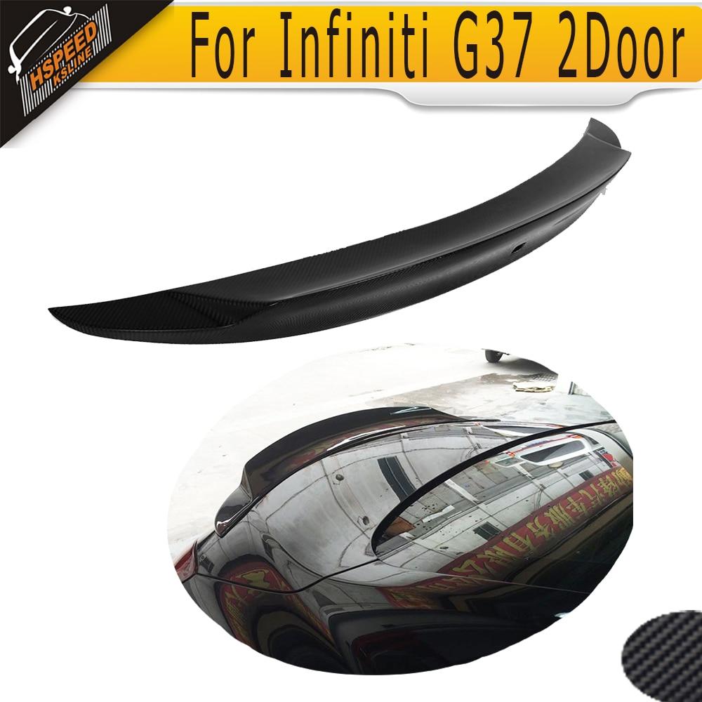 Carbon Fiber Car Rear Trunk Spoiler auto rear wings for Infiniti G37 2Door base journey sedan 2009-2013 JC style бампер jc sportline infiniti