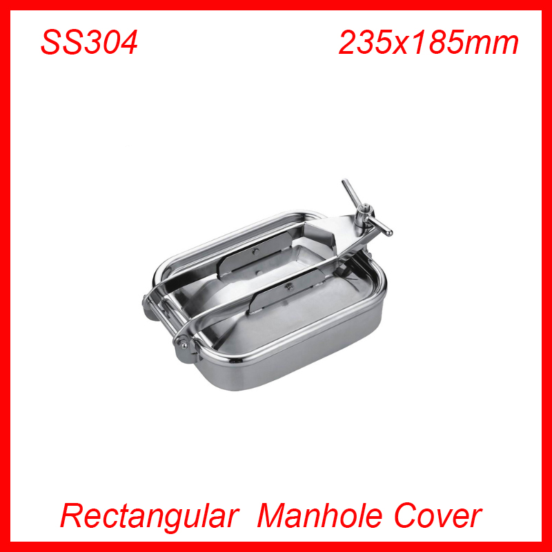 235x185mm SS304 Stainless Steel Rectangular Manhole Cover Manway tank door way 430x330mm ss304 stainless steel rectangular manhole cover manway tank door way