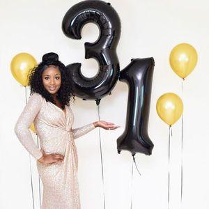 Image 3 - 2 Stks/partij 13 /31 Nummer Ballonnen 40Inch Grote Mylar Helium Folie Zilver Rose Goud Kids 13th Verjaardag Anniversary party Decoraties