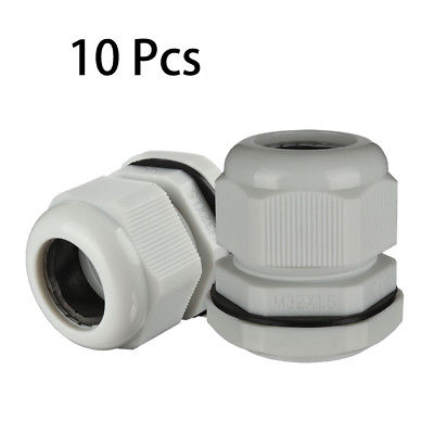 10Pcs M32 Waterproof IP68 TRS Cable Stuffing Gland Locknut for 16mm-21mmDia Wire