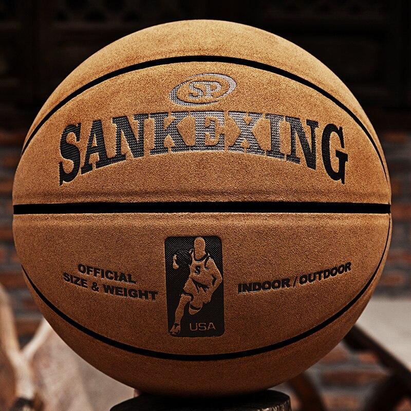 Sankwxing бренд высокое качество официальный Размеры 7 кожа Баскетбол шары Крытый мужски ...