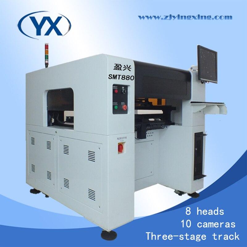 Vollautomatische 8 Kopf SMT Pick Platzmaschine SMT880, 0402,0201, 0805,1206, BGA Solar-montagesystem