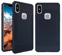 Rugged Soft Carbon Fiber Case For Iphone X 8 7 6 6S Plus Wire Drawing Silicone