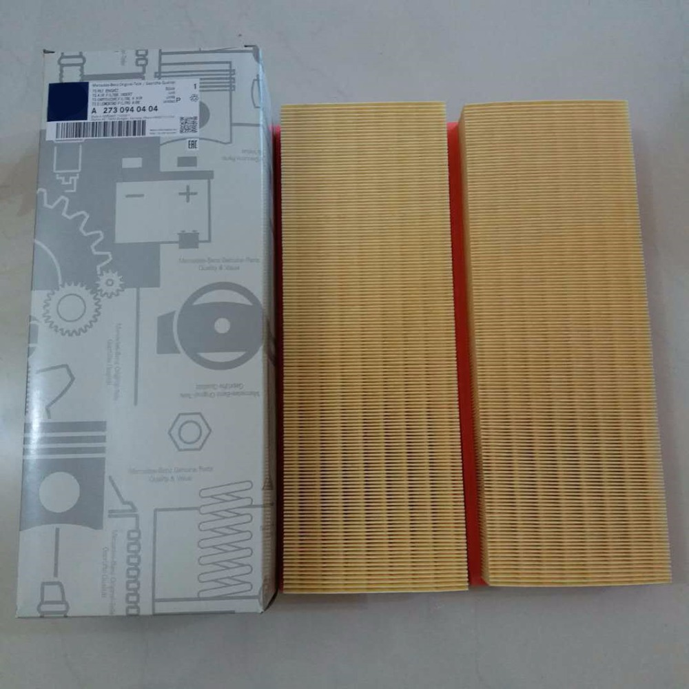 Air filter element A2730940404 for Mercedes-Benz C CL CLK CLS E G GL GLK ML R S SL SLK-Class Air Filter Set