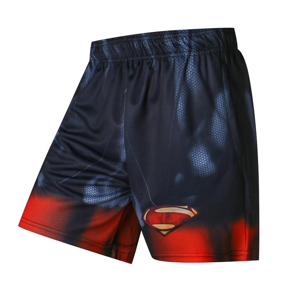 Superheros Superman Shorts Men Summer Mens Shorts Casual Short Elastic Waist Shorts for Men