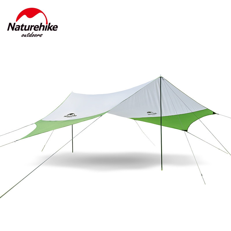 Naturehike Large Camping Tent Awning Sun Shelter with pole Beach Playing Games Fishing Hiking Outdoor 5 Person Tent Sun Shelter trackman 5 8 person outdoor camping tent one room one hall family tent gazebo awnin beach tent sun shelter family tent