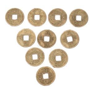 Image 5 - 100Pcs Chinesischen Feng Shui Glück Ching/Alte Münzen Set Pädagogisches Zehn Kaiser Antike Vermögen Geld Münze Glück Glück reichtum