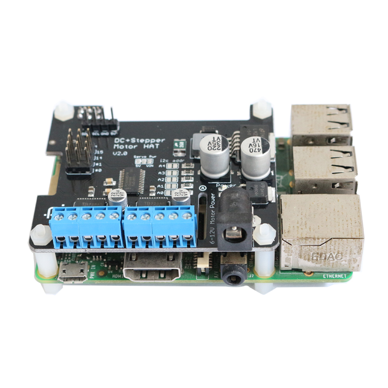 Motor Driver Stepper Motor HAT Robot Expansion Board With Voltage Regulator Module For Raspberry Pi 3