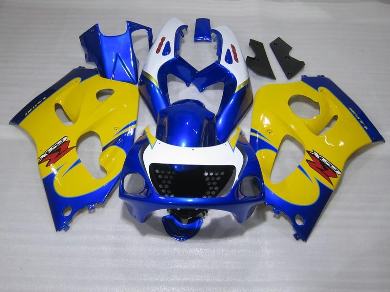 New Hot Moto Parts Fairing Kit For Suzuki GSXR750 1996 2000 Yellow Blue Fairings Set