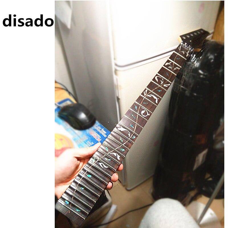 Disado 21 22 24 Frettes en gros érable Guitare Électrique touche palissandre inlay arbre de mortes Guitare accessoires pièces