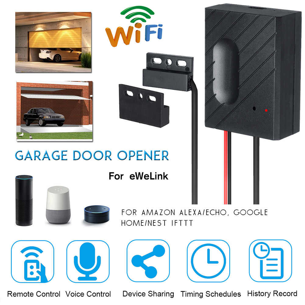 Remote Control Mini Accessory APP WiFi Garage Door Smart Switch Gate Opener Durable Professional Easy Install Home For EWeLink