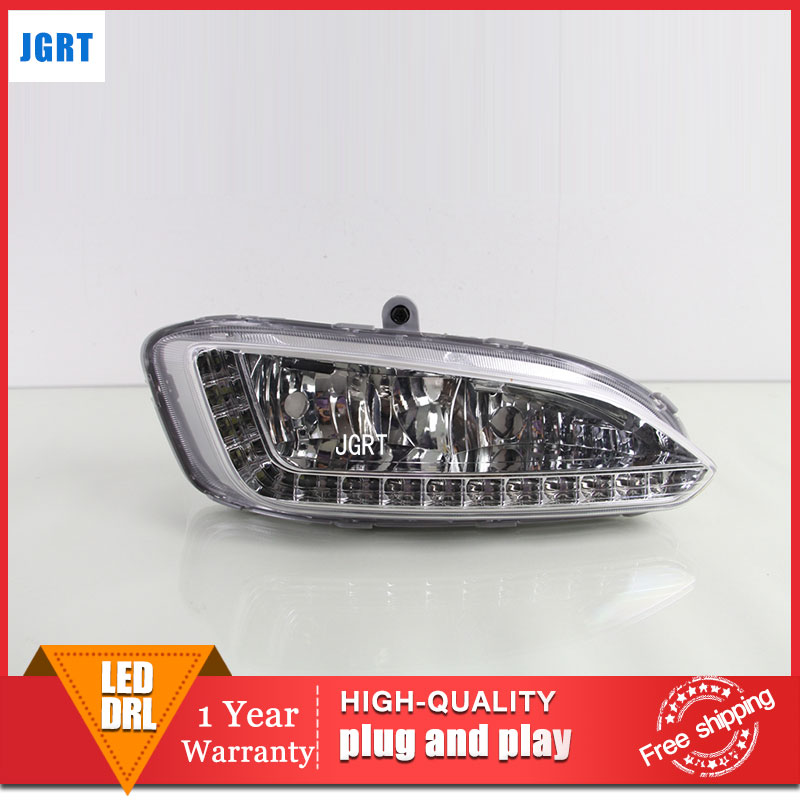 car styling 2013-2015 For Hyundai IX25 LED DRL For IX25 led fog lamps daytime running light High brightness guide LED DRL car specific led daytime running lights drl high brightness conversion case for 10 12 b m w x5 e71 freeshipping ggg