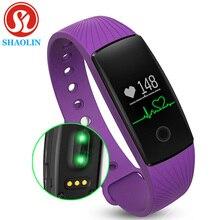 Shaolin pulsera inteligente bluetooth pulsera inteligente inteligente band pulsera pulsómetro rastreador de ejercicios para android ios