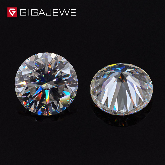 GIGAJEWE 1.0ct 6mm-8.1mm EF Color Round Cut Moissanite Stone DIY Gem Charms DIY Beads For Jewelry Making Fashion Girlfriend Gift