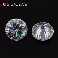 GIGAJEWE 1.0ct 6mm 8.1mm EF Color Round Cut Moissanite Stone DIY Gem Charms DIY Beads For Jewelry Making Fashion Girlfriend Gift