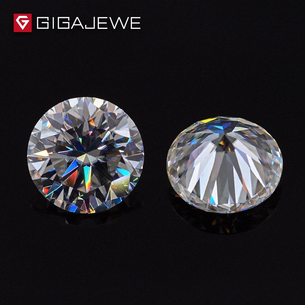 GIGAJEWE 1.0ct 6mm-8.1mm EF Couleur Round Cut Moissanite Pierre DIY Gem Charmes DIY Perles Pour Bijoux faire De Mode Petite Amie Cadeau