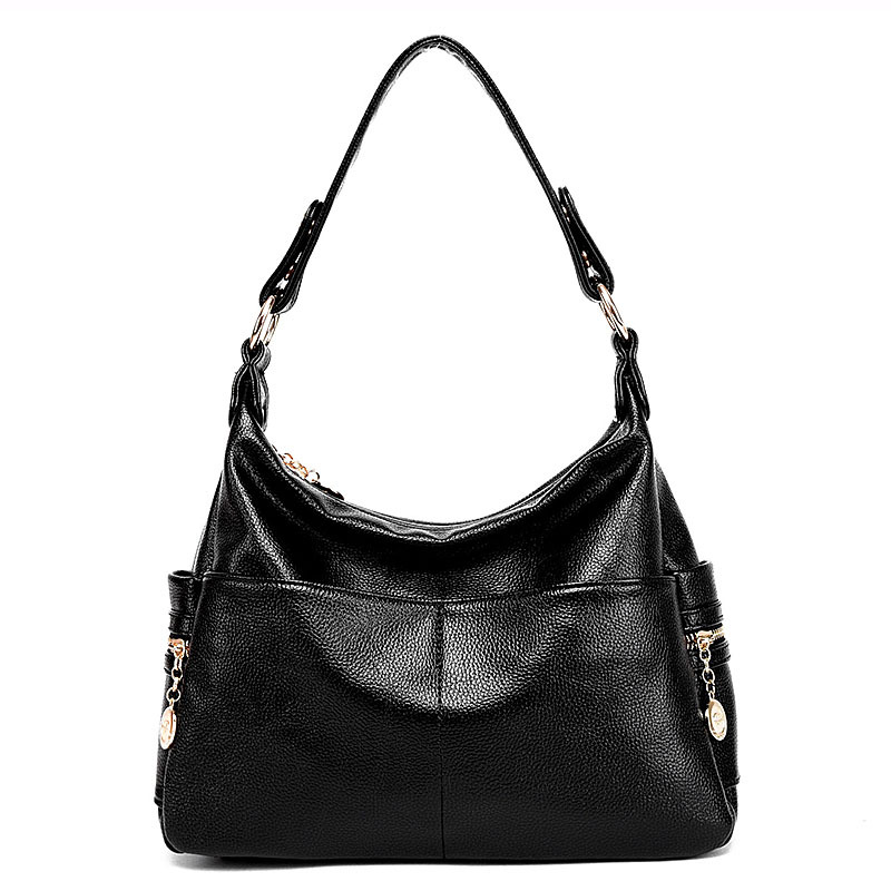 2018 new shoulder bag female Europe and America zipper cute ladies fashion handbag black shoulder bag