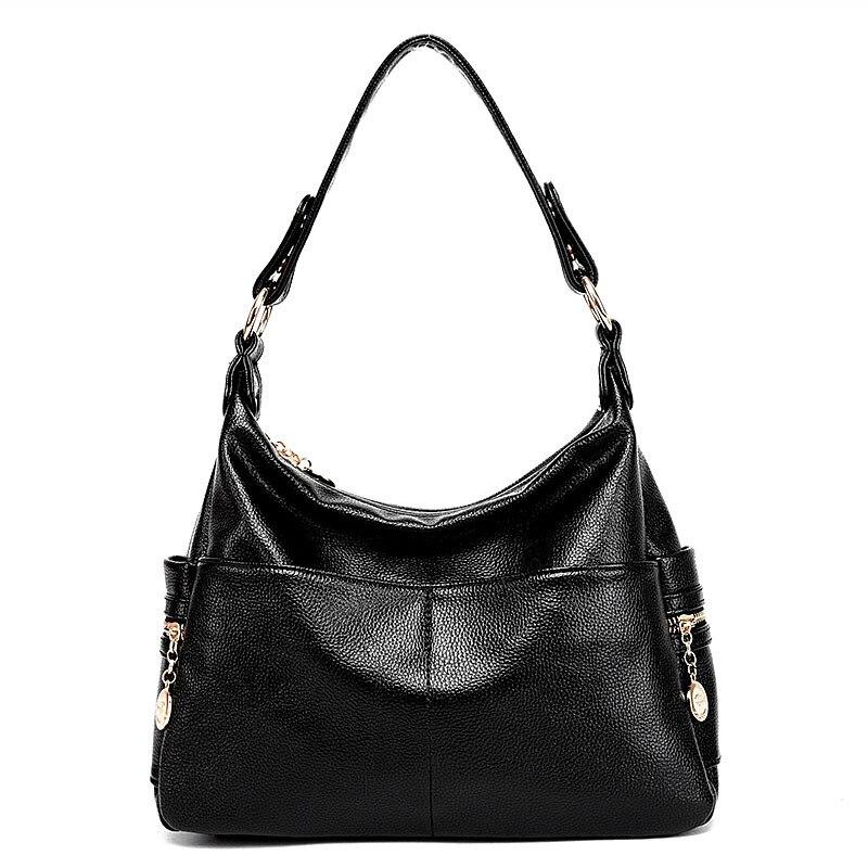 2018 nuevo bolso de hombro mujer Europa y América cremallera lindo señoras moda Bolso Negro Bolso de hombro