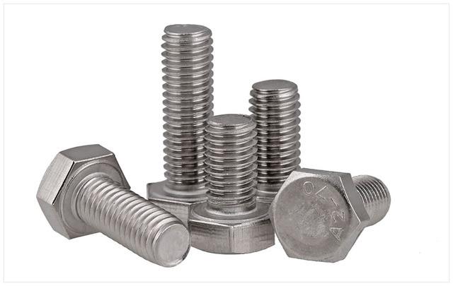 DIN933 304 stainless steel full thread fine 0.75/1.0/1.25/1.5 M6 M8 M10 M12 screws External hex 304 bolt