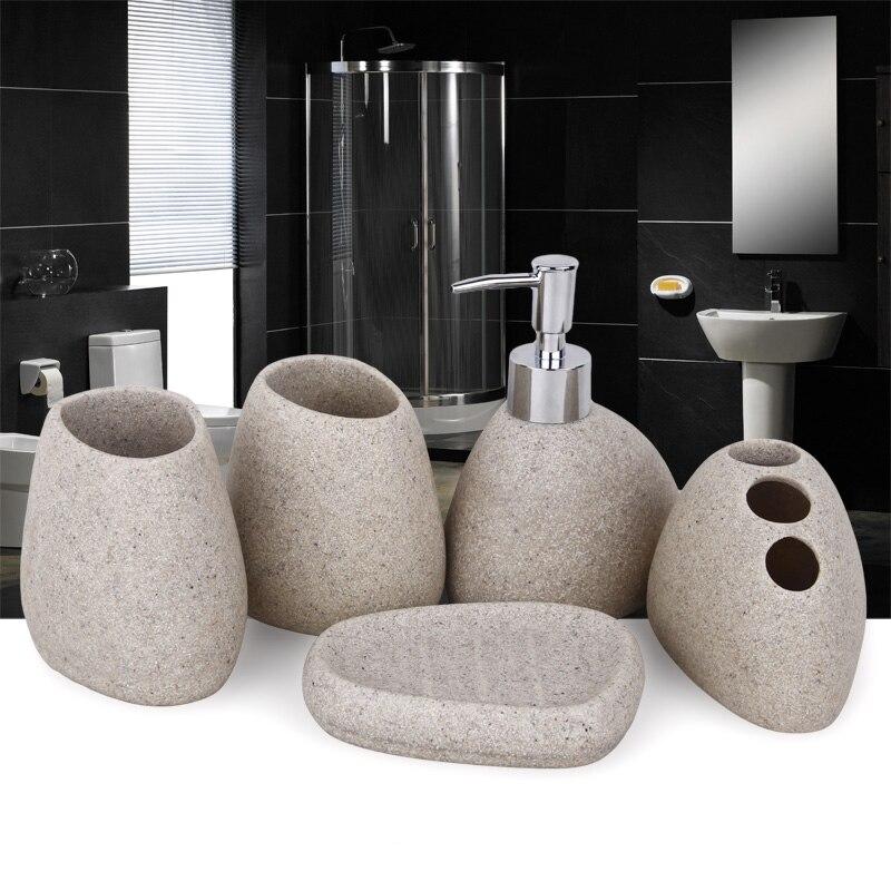 Resin bathroom suite ceramic bathroom supplies five pieces set tooth cup wash set 5pcs/lot