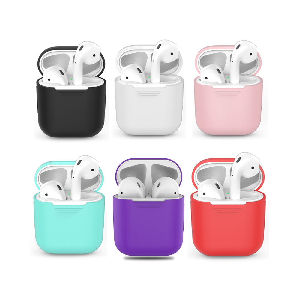 Image 3 - Earphone Case For Apple AirPods 2 Silicone Cover Wireless Bluetooth Headphone Air Pods Pouch Protective For AirPod Silm Case-in Earphone Accessories from Consumer Electronics