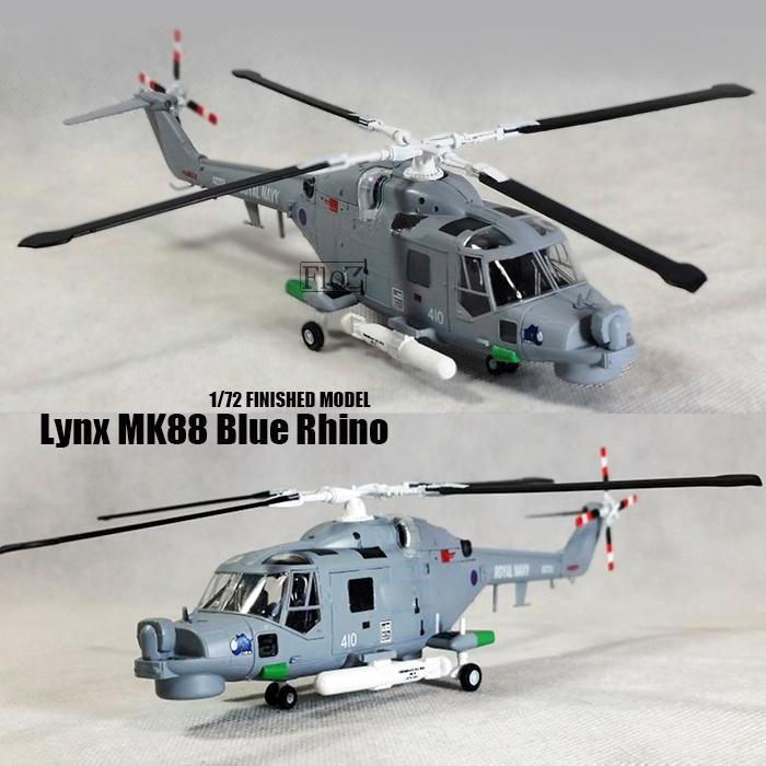 Lynx MK88 Super N 410 Blue Rhino Royal Navy 1/72 Finished Helicopter Easy Model