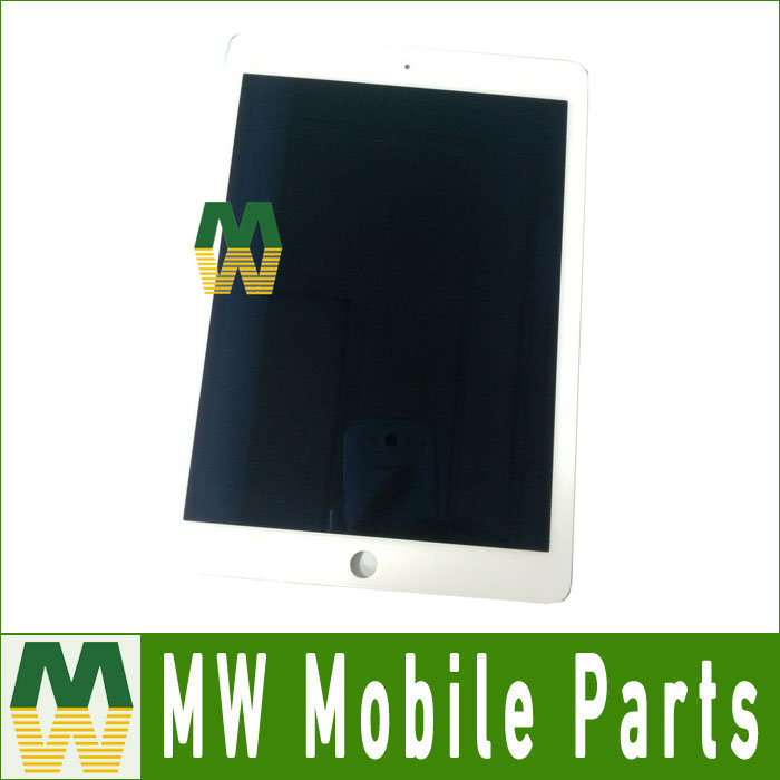 1 PC /Lot For iPad Air 2 For ipad 6 Black And White Color LCD Display +Touch Screen Digitizer Black White Color