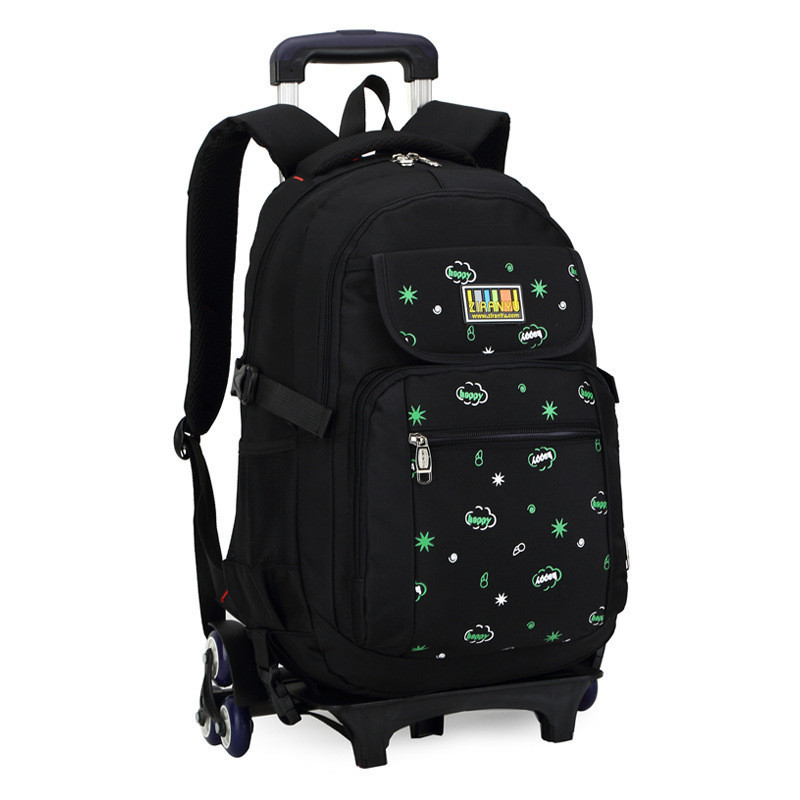 Hot Sales Removable Children School Bags with 3 Wheels Children Climb Stair Trolley Bookbag Kids Wheeled Bags Girls Backpack