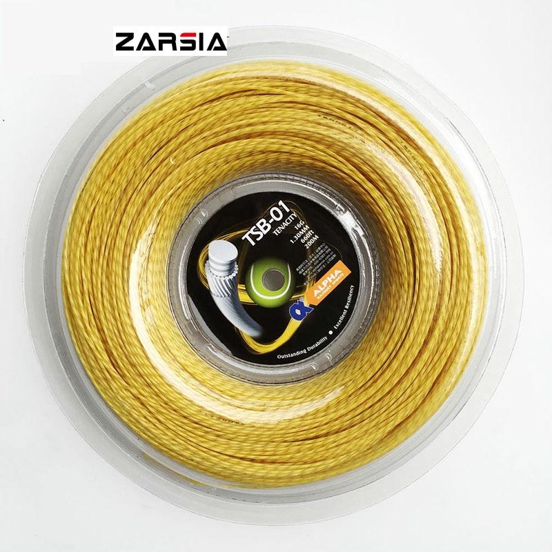 Free Shipping 200M/reel Tennis Racket String TSB-01 Tenacity Durability Crimp Racquet String1.3mm/16G