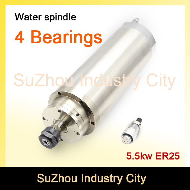 AC Motor  Spindle motor 220V 5.5 KW ER25  Water Cooled 4bearings high torque water cooling spindle for CNC router machine original laptop hdd hard disk drive connector cable for hp envy 15 series hdd connector with cable 6017b042160 6017b0416801 wd15
