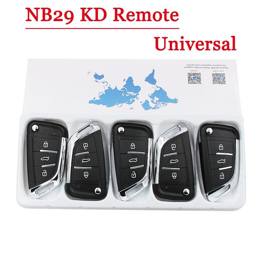 Envío Gratis 5 unids/lote) llave remota multifunción NB29 3 botones para KD900 KD900 + URG200 KD-X2 5 funciones en una tecla