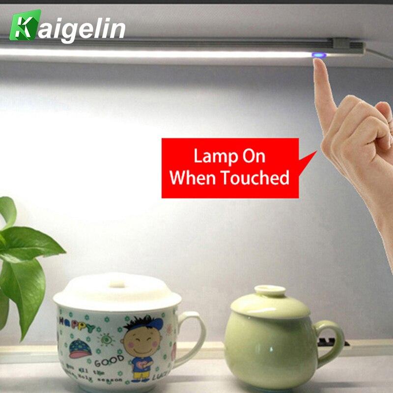 21 LED innovadora luz LED Bar DC 5 V Touch Sensor Dimmable debajo del Gabinete luz de la cocina lámparas de noche duro luces de barra rígida
