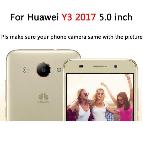 3D Единорог Пони Минни Стич Салли мороженое силиконовый чехол для телефона для huawei Y3 2017 CRO-L22 CRO-L02 CRO-L03 CRO-L23 CRO-U00