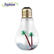 Sophisa 400ml Light bulb mini car air humidifier usb LED Lights add water Oil Diffuser business gift for office bedroom SP-CAR05