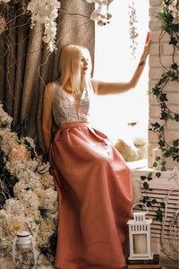 Image 5 - Ever Pretty V Neck Sequined Bodice Backless A Line Long Evening Dresses Elegant Vestido De Festa Fast Shipping Satin Prom Gowns