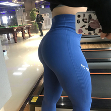 Women Mujer High Waisted Seamless Gym Leggings Black Letter Print Side Yoga Pants Push Up Sport Leggings Fitness Pants