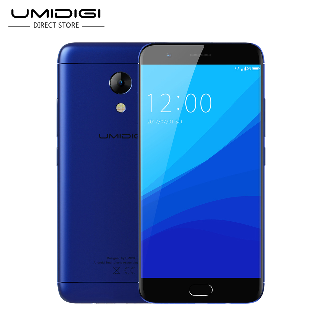 "UMIDIGI C2 MTK6750T Octa-core Smartphone 4GB RAM 64GB ROM 5.0"" Mobile Phone Front Touch ID 4000Mah"