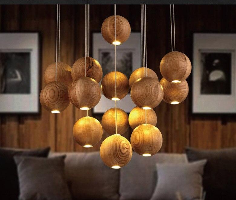 світильники дерево