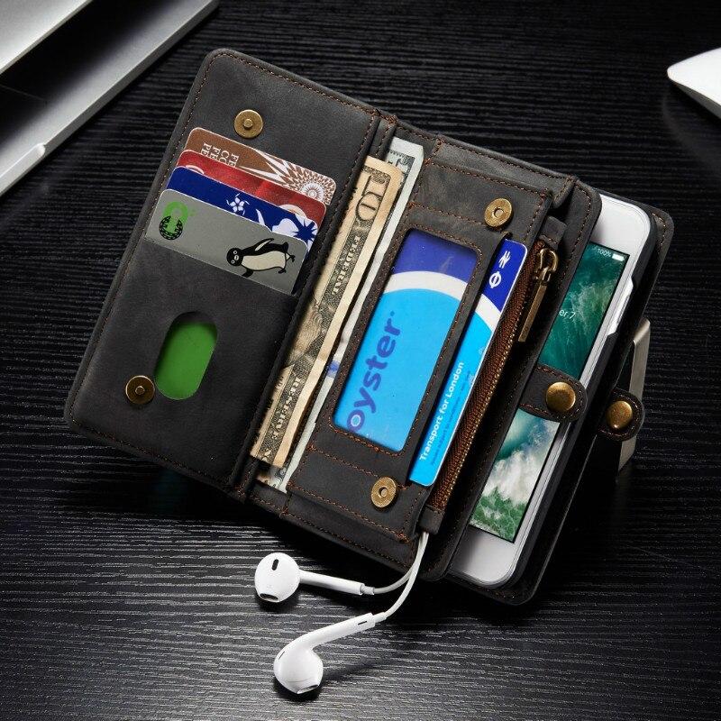 imágenes para 2017 Promoción de Venta Caliente Para El Iphone 7 Caso de Lujo Desmontable Vintage Tirón Magnético de Silicona Para 6 6 s Plus Cubierta de La Carpeta Coque