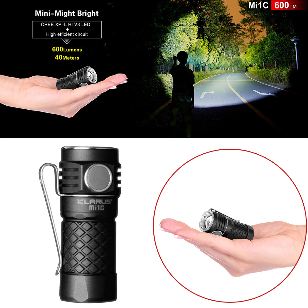Bicycle Accessories Bike Flashlight Headlamp XP-L HI V3 LED 600LM LED Mini EDC Flashlight With 16340 Battery For Self Defens