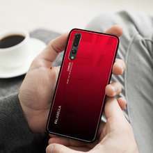 Gradient Aurora Tempered Glass with Silicone Edge Case for Huawei P20 P20Pro