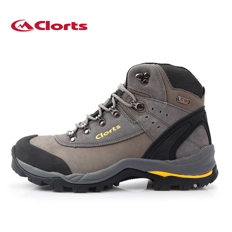 2018 Clorts Men Genuine Leather Hiking Boots Nubuck Waterproof Outdoor Sneakers EVENT Climbing Shoes 3A012 2018 clorts womens hiking boots waterproof outdoor sport shoes breathable climbing shoes nubuck for women free shipping hkm 802b